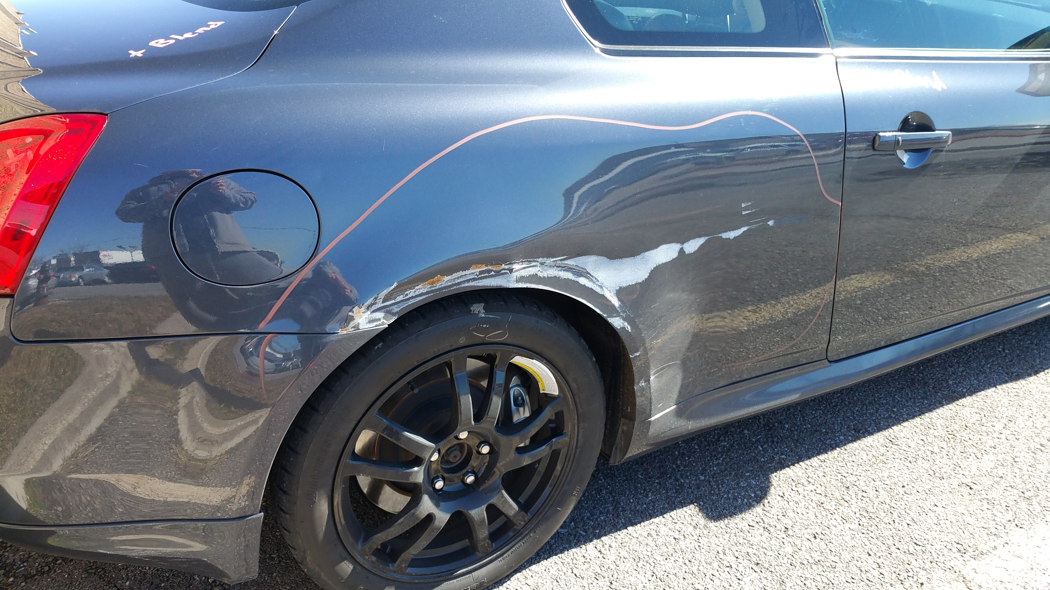 2009 Infinti G37s - Side damage